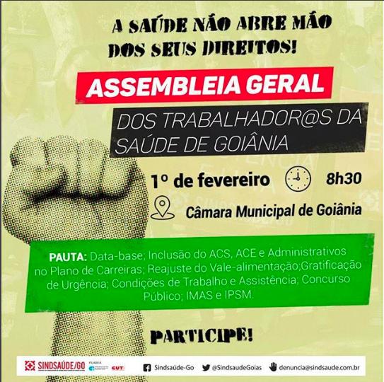 Assembleia Geral dos trabalhadores da Saúde de Goiânia