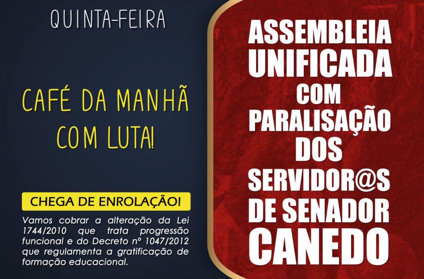 Servidores de Senador Canedo paralisam atividades nesta quinta (25)