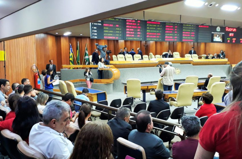Goiânia: novo projeto da data-base é aprovado em primeira votação em plenário