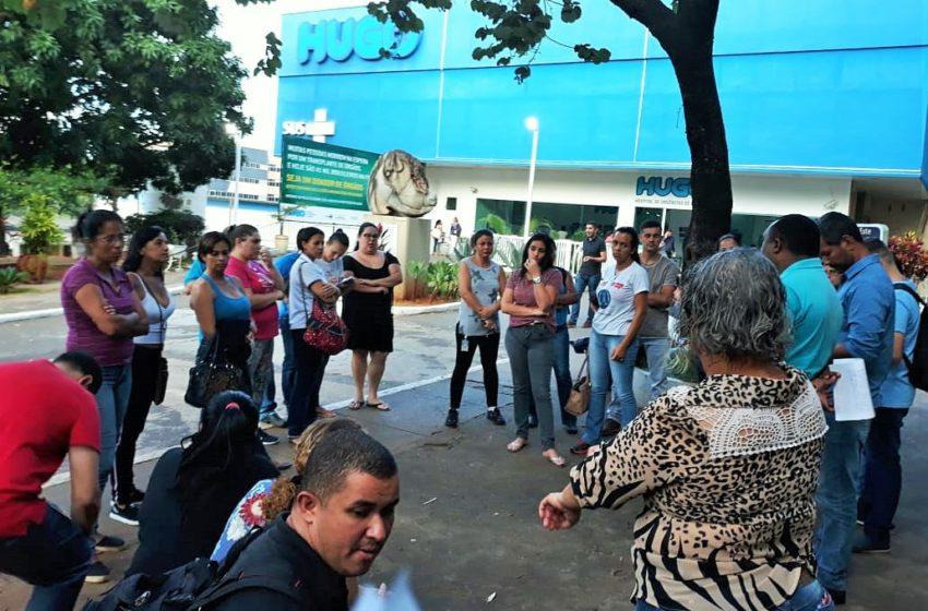 Por salário, trabalhadores terceirizados do Hugo agendam nova mobilização