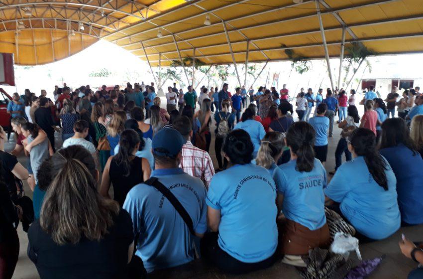 Servidores municipais da Saúde de Senador Canedo realizam protesto nesta terça-feira (26)