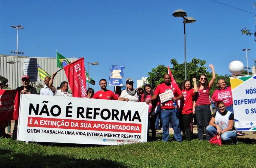 Greve Geral: Sindsaúde participa da mobilização nacional em defesa da aposentadoria