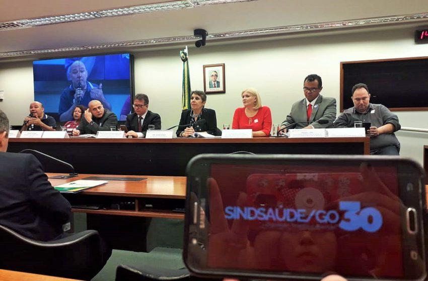 Na Câmara Federal, Sindsaúde participa de audiência que discute ataque às entidades sindicais