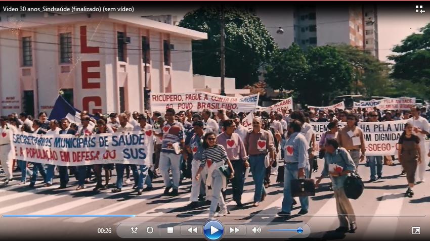 Vídeo: Sindsaúde 30 anos! Assista