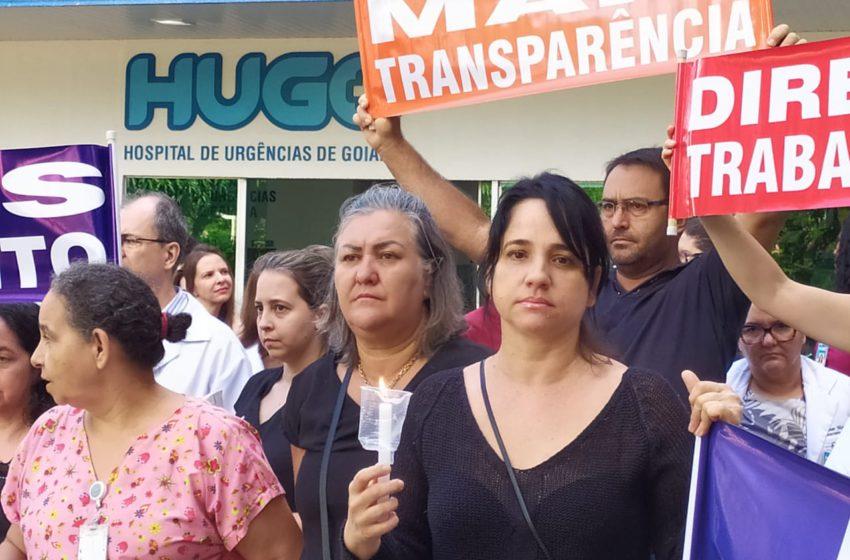 """""""Não é remoção, é expulsão"""" protestam servidores do Hugo"""