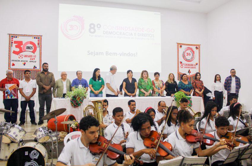 """""""É momento de organização, resistência e luta"""" afirma presidenta do Sindsaúde durante abertura do 8º ConSindsaúde"""
