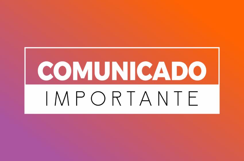 COMUNICADO AOS FILIADOS DO SINDSAÚDE-GO