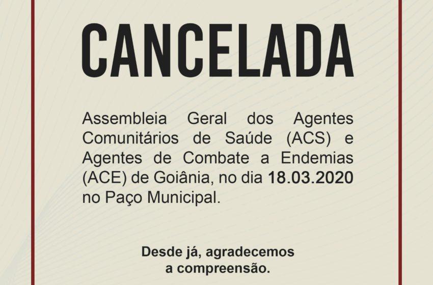 O Sindsaúde cancela Atos e Manifestações Públicas