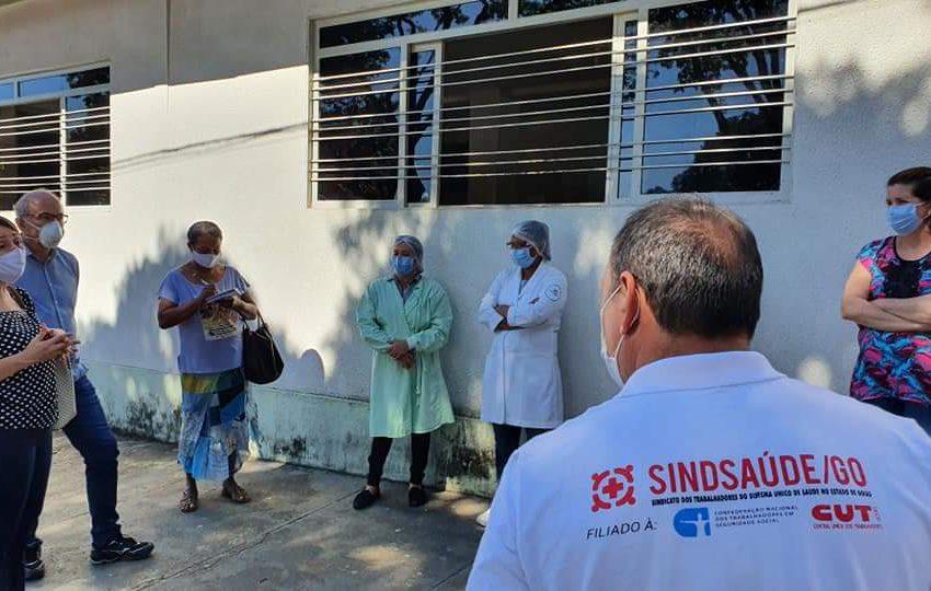 Sindsaúde vai a unidades de saúde para averiguar condições de trabalho e registrar demandas dos trabalhadores