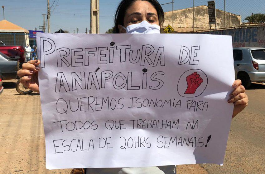 Sindsaúde na UPA Sul em Anápolis na luta por nenhum direito a menos