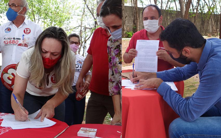 Adriana Accorsi e Fábio Júnior assinam carta de compromisso com a saúde