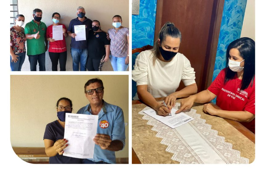 Sindsaúde – Eleições 2020 – candidatos à prefeitura de Aragoiânia comprometidos com os servidores da saúde
