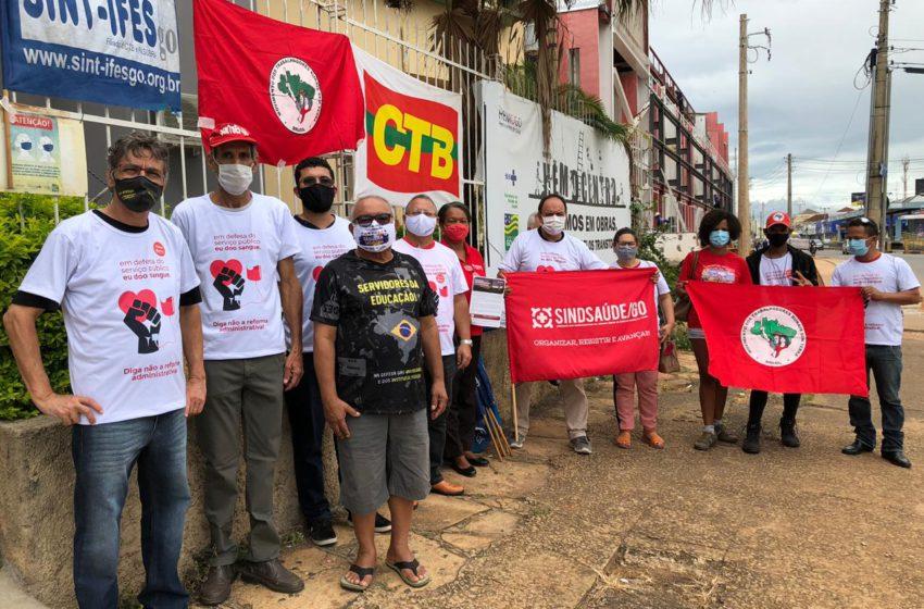 Sindsaúde – Presente no Dia Nacional de protestos contra a Reforma Administrativa