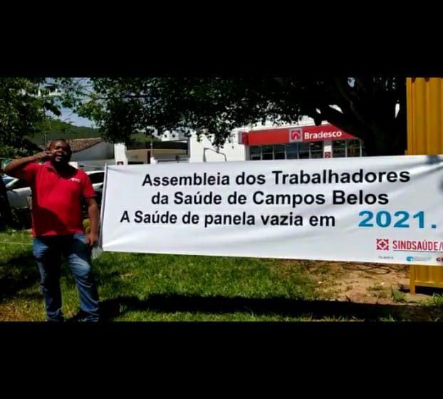 Sindsaúde realiza assembleia para requerer salários atrasados de servidores de Campos Belos