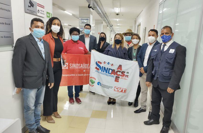 Durante reunião com o Ministério da Saúde, Sindsaúde cobra vacinação de ACE e ACS