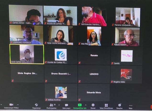 Diretores do Sindsaúde participam de semana de capacitação promovido pelo TCM