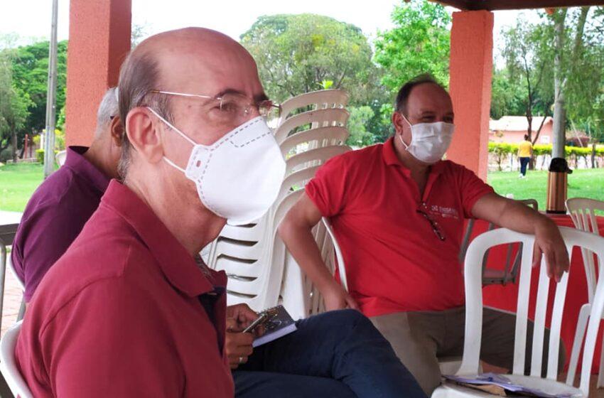 Durante visita o Sindsaúde, deputado federal Rubens Otoni reafirma compromisso com pautas da saúde